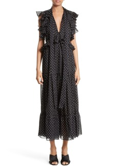 Robert Rodriguez Polka Dot Maxi Dress