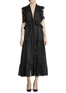 Robert Rodriguez Polka Dot Midi Dress