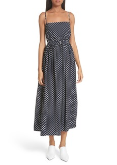 Robert Rodriguez Polka Dot Midi Dress