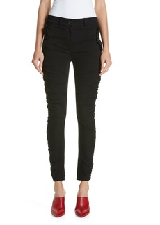 Robert Rodriguez Ruched Stretch Cotton Pants