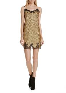 Robert Rodriguez Sequin Lace Camisole Dress