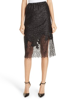 Robert Rodriguez Sequin Lace Skirt
