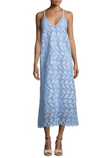 Robert Rodriguez Sleeveless Guipure Lace Midi Dress