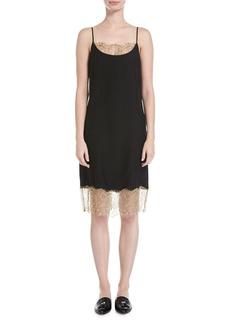 Robert Rodriguez Slip Camisole Dress W/ Lace Detail