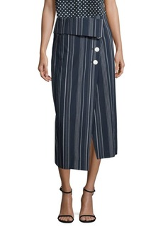Robert Rodriguez Striped Midi Skirt