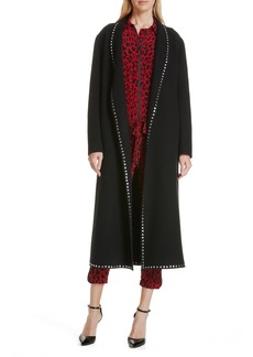 Robert Rodriguez Studded Wool Blend Coat