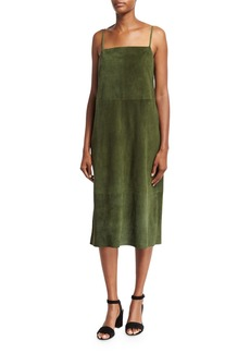 Robert Rodriguez Suede Sleeveless Slip Midi Dress