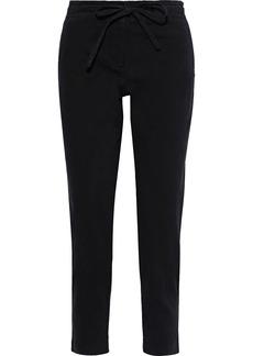 Robert Rodriguez Woman Cropped Cotton-blend Twill Slim-leg Pants Black