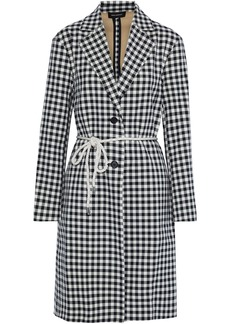 Robert Rodriguez Woman Ines Belted Gingham Cotton Coat Black