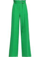 Robert Rodriguez Woman Pleated Crepe Wide-leg Pants Green