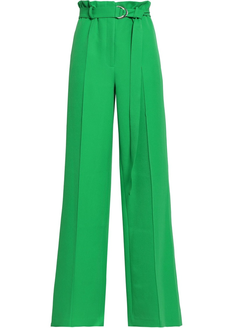 Robert Rodriguez Woman Pleated Crepe Wide-leg Pants Green