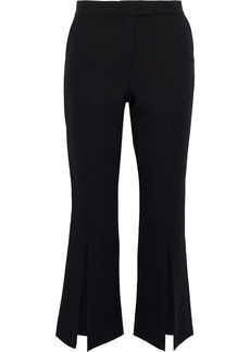 Robert Rodriguez Woman Split-front Cady Kick-flare Pants Black