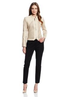 Robert Rodriguez Women's Cane Weave Leather Jacket