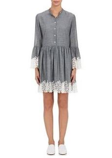 Robert Rodriguez Women's Chambray & Guipure Lace Shirtdress