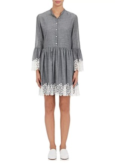 Robert Rodriguez Women's Chambray & Guipure Lace Shirtdress
