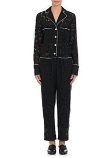 Robert Rodriguez Women's Cotton-Blend Lace Pajama Jumpsuit