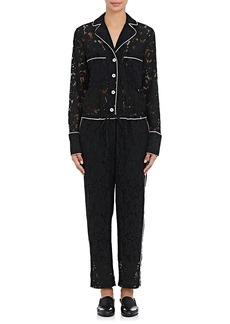 Robert Rodriguez Women's Cotton-Blend Lace Pajama Jumpsuit