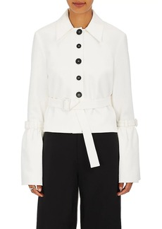 Robert Rodriguez Women's Cotton Crepe Belted Crop Jacket
