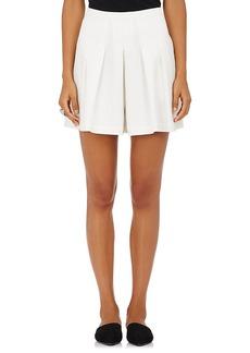 Robert Rodriguez Women's Cotton Crepe Pleated Shorts
