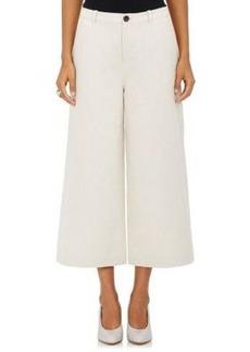 Robert Rodriguez Women's Cotton-Linen Side-Slit Gaucho Pants
