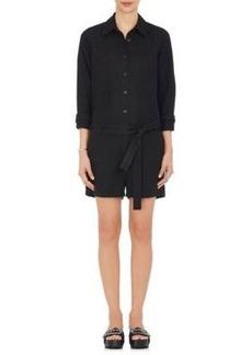 Robert Rodriguez Women's Cotton-Linen Twill Short Jumpsuit