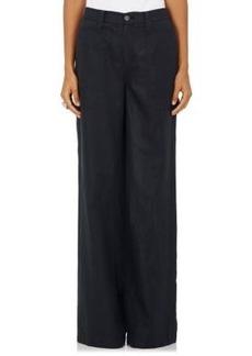 Robert Rodriguez Women's Cotton-Linen Twill Wide-Leg Trousers