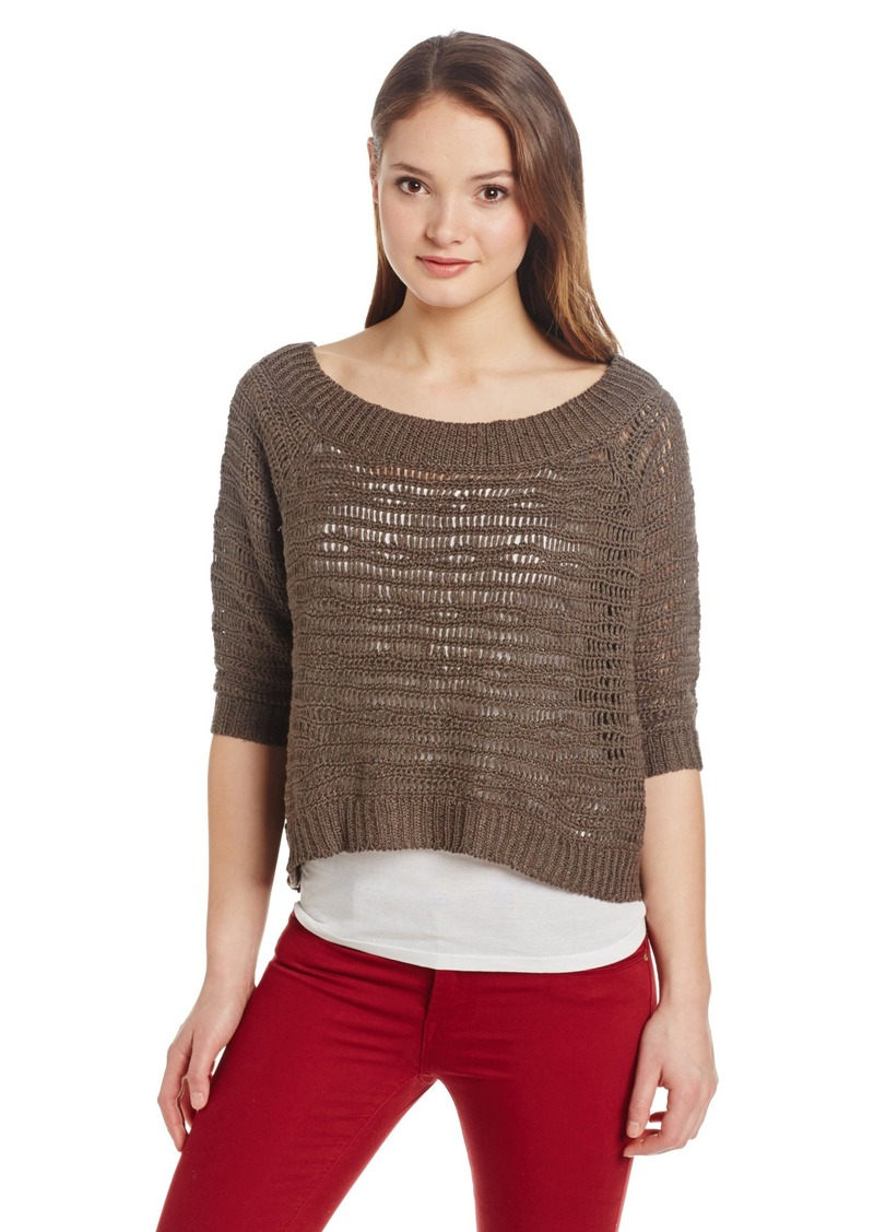 Robert Rodriguez Women's Crocheted Cropped Sweater