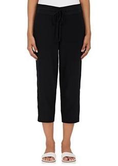 Robert Rodriguez Women's Crossover-Front Silk Crop Pants