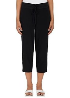 Robert Rodriguez Women's Crossover-Front Silk Crop Pants