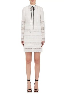 Robert Rodriguez Women's Cutwork-Embroidered Crepe A-Line Dress