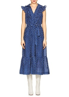Robert Rodriguez Women's Dot-Print Cotton Voile Maxi Dress