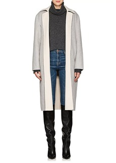 Robert Rodriguez Women's Double-Faced Wool-Blend Wrap Coat