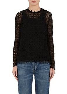 Robert Rodriguez Women's Embroidered Cotton Long-Sleeve Blouse