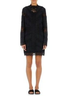 Robert Rodriguez Women's Embroidered-Lace-Inset Shift Dress