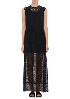 Robert Rodriguez Women's Embroidered-Lace Maxi Dress
