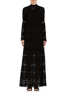 Robert Rodriguez Women's Eyelet & Crochet Maxi Dress