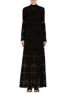 Robert Rodriguez Women's Eyelet & Crochet Maxi Dress