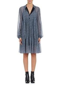 Robert Rodriguez Women's Floral-Print Silk Crepe Tieneck Dress