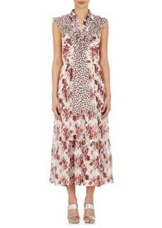 Robert Rodriguez Women's Floral Silk Belted Midi-Dress