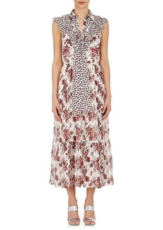 Robert Rodriguez Women's Floral Silk Belted Midi-Dress
