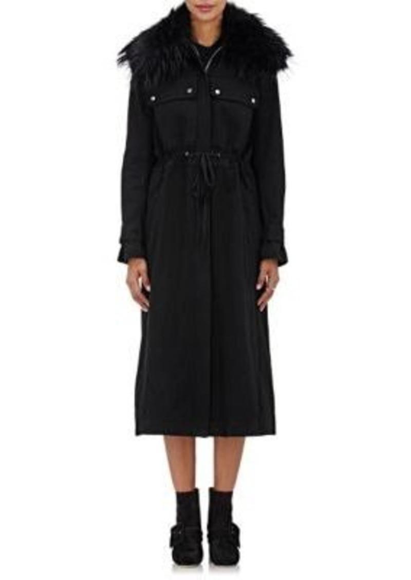 Robert Rodriguez Women's Fur-Trimmed Cotton Coat