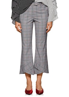 Robert Rodriguez Women's Glen Plaid Flared-Hem Pants