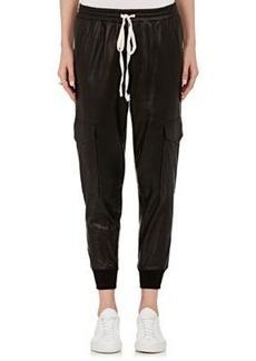 Robert Rodriguez Women's Leather Cargo Pants