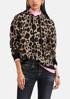 Robert Rodriguez Women's Leopard Jacquard Wool Hoodie