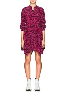 Robert Rodriguez Women's Leopard-Print Silk Tie-Waist Dress
