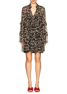 Robert Rodriguez Women's Leopard Silk Chiffon Shift Dress