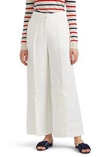 Robert Rodriguez Women's Linen-Blend Wide-Leg Trousers