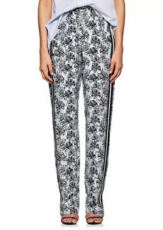 Robert Rodriguez Women's Orchid-Print Silk Twill Track Pants