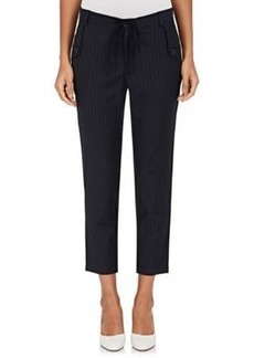 Robert Rodriguez Women's Pinstriped Worsted Crop Trousers