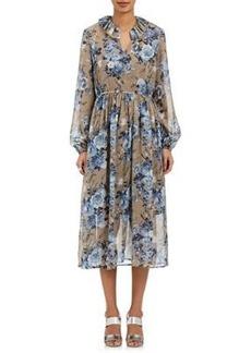 Robert Rodriguez Women's Ruffle-Trimmed Silk Chiffon Dress